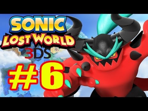 Sonic Lost World 3DS - Walkthrough Part 6 Sky Road Zone [HD]