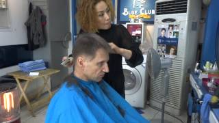 getlinkyoutube.com-Getting a short clipper haircut in Korea.