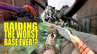 getlinkyoutube.com-Raiding The WORST Base Ever!? (Raiders/pvp)- Ark: Survival Evolved - Ep.55