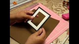 getlinkyoutube.com-How to make an insert and a picture frame.