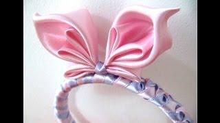getlinkyoutube.com-Mariposa diadema en cintas para el cabello - butterfly bow headband