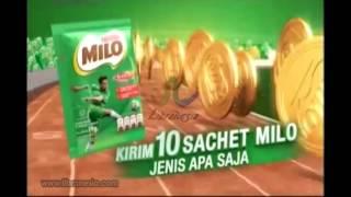Iklan Milo - Promo Hadiah 100 Koin Emas Setiap Minggu