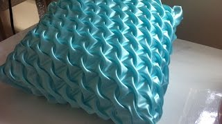 Canadian smocking in a  fabric for cushion easy steps.DIY