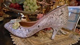 """getlinkyoutube.com-Shoes Make Over Using """"NEWSPAPER"""""""