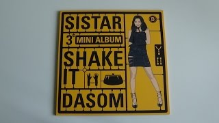 getlinkyoutube.com-Unboxing Sistar 씨스타 3rd Mini Album Shake It (Dasom Version)