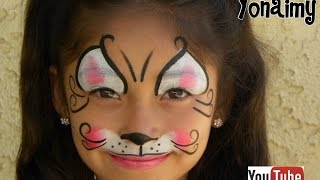 getlinkyoutube.com-GATITA  (PINTACARITAS) .- FACEPAINTIG  KITTY CAT