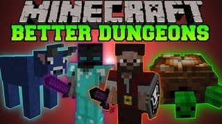 getlinkyoutube.com-Minecraft: BETTER DUNGEONS (BOSSES, MOBS, MASSIVE DUNGEONS) Chocolate Quest Mod Showcase