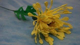 getlinkyoutube.com-Игольчатая Хризантема. Букет из конфет. DIY chrysanthemum