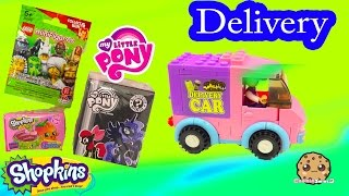 getlinkyoutube.com-Blind Bag Delivery Car Video Unboxing Shopkins Season 4 Surprise , My Little Pony Mystery Box & Lego