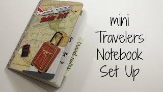 getlinkyoutube.com-Planner: ✈ mini Travelers Notebook setup
