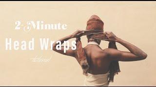 getlinkyoutube.com-2-Minute Easy Head Wrap Styles