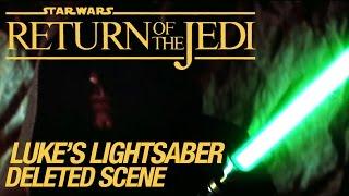 getlinkyoutube.com-Star Wars VI Return of the Jedi Deleted Scene: Luke's Lightsaber