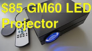 getlinkyoutube.com-$75 GM60 1000 lm LED projector review+Full budget home cinema setup