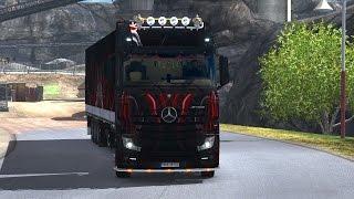 getlinkyoutube.com-ETS 2 - Mercedes Actros Mp4 Black and Red Skull Combo