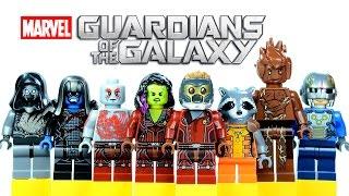 getlinkyoutube.com-LEGO Guardians of the Galaxy KnockOff Minifigures Set 2 with Star-Lord Gamora Drax Rocket Racoon