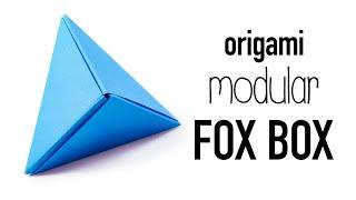getlinkyoutube.com-Modular Origami 'Fox Box' Tutorial ♥︎ DIY ♥︎