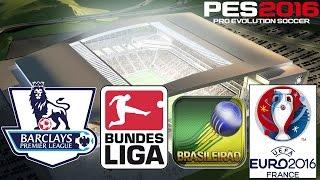 getlinkyoutube.com-PES 2016 - Barclays, Bundesliga, Brasileirão, Eurocopa e Estádios (PS4/XONE/PC/PS3/X360)