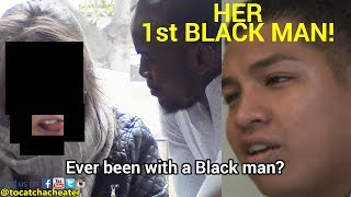 GF STRETCHED BY BLACK GUY FOR 1st TIME - BOYFRIEND SHOCKED! width=