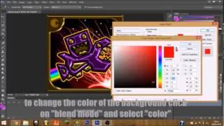 getlinkyoutube.com-Geometry dash - How to make an amazing custom icon!