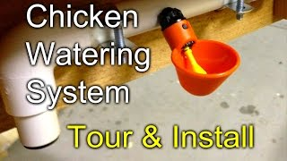 getlinkyoutube.com-Chicken Watering: Tour and Install of my gravity fed system