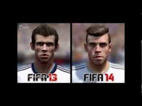 fifa 13 vs fifa 14 faces