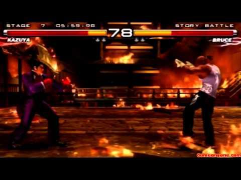 Tekken 5 - Story Battle - Kazuya Playthrough