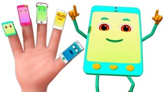 getlinkyoutube.com-Cellphone Finger Family 3D | Finger Family Rhymes | 3d Music Video For Children