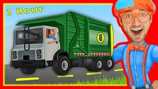 getlinkyoutube.com-Explore Machines with Blippi | Garbage Trucks and More!