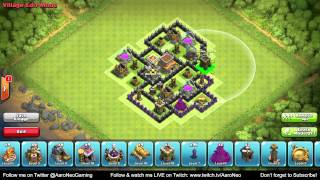 getlinkyoutube.com-BEST Town Hall Level 8 (TH8) Defense Strategy - Clan Wars/Hybrid/Trophy Base (Clash of Clans) Part 1