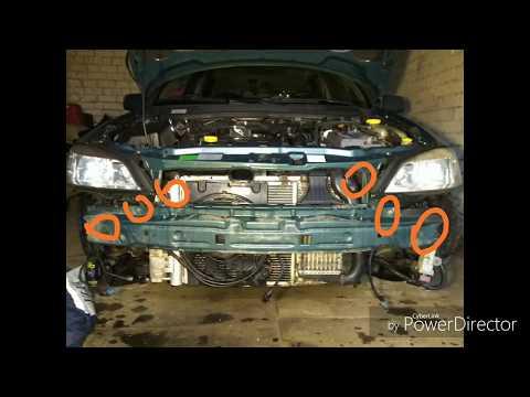 Расположение у Opel Вектра Седан радиатора кондиционера