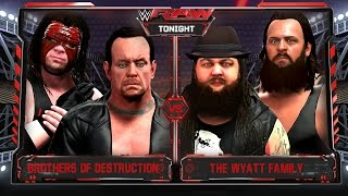 getlinkyoutube.com-WWE RAW 2K16 - The Brothers Of Destruction vs The Wyatt Family Tag Team Match - RAW 11/2/15