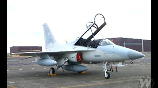 """getlinkyoutube.com-Two FA-50 """"Fighting Eagles"""" from South Korea have arrived in the Philippines"""