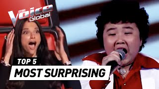 getlinkyoutube.com-The Voice Kids | MOST SURPRISING 'Blind Auditions' worldwide