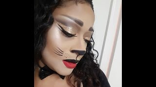 getlinkyoutube.com-Halloween Sexy-Glam Cat look