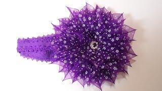 getlinkyoutube.com-Уроки Канзаши . Обьемный цветок из органзы . Мастер класс Канзаши