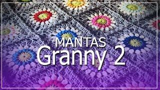 getlinkyoutube.com-Mantas Granny Tejidas a Crochet Parte 2 - Diseños hermosos