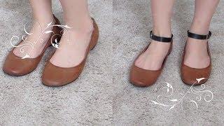 getlinkyoutube.com-DIY: Ankle Strap For Your Flats/ Heels :)