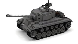 getlinkyoutube.com-Lego WWII M26 Pershing Tank Instructions