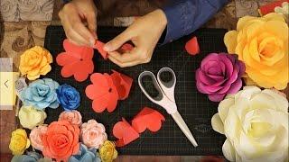 اصنعي ورود من الورق| كيف تصنعين ورود من الورق| Lady Z Style| DIY paper's roses
