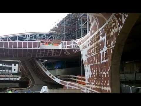 Stadion Arnhem op de dag van de bouw