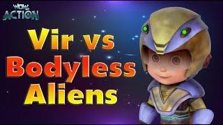 Vir : The Robot Boy   Cartoons in Hindi for kids   Vir Vs Bodyless Aliens   Wow Kidz Action width=