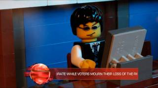 getlinkyoutube.com-Lindsay Lohan Goes to Jail - LEGO News To Me