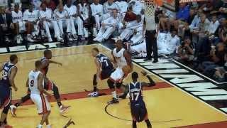 Chris Bosh's Double Spin Move!