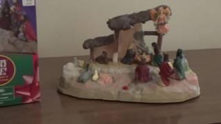 "getlinkyoutube.com-Gemmy Christmas ""Narrated Nativity Scene"" (Earliest Version)"
