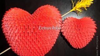 getlinkyoutube.com-How to make 3D Origami Heart? - Hướng dẫn xếp trái tim Origami 3D