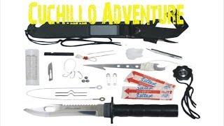 getlinkyoutube.com-Cuchillo con kit de supervivencia