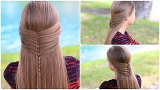 getlinkyoutube.com-Mermaid Half Braid Tutorial | Cute Hairstyles