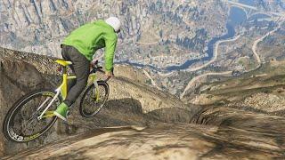 getlinkyoutube.com-HUGE MOUNTAIN CYCLE JUMP!(GTA 5 Funny Moments)