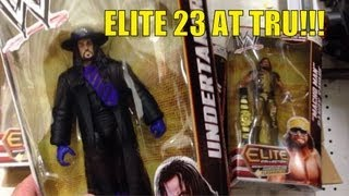 wwe figure hunt: elite series 23 at toysrus!! mattel wrestling aisle action figures hunt john cena