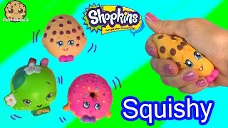 getlinkyoutube.com-3 Shopkins Squishy Stress Balls from Season 1 Kooky Cookie Video Toy Review - Cookieswirlc